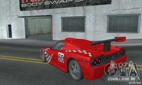 Ferrari F50 GT (v1.0.0) para GTA San Andreas traseira esquerda vista