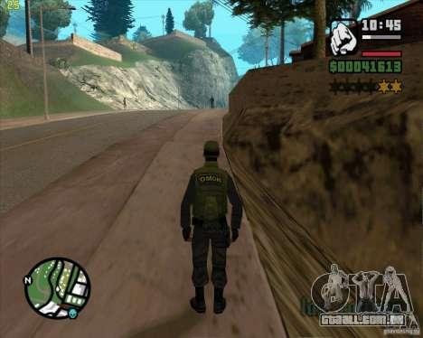 Serviço de segurança russo para GTA San Andreas quinto tela