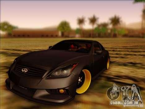 Infiniti G37 HellaFlush para GTA San Andreas