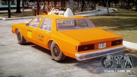 Chevrolet Impala Taxi v2.0 para GTA 4 vista direita