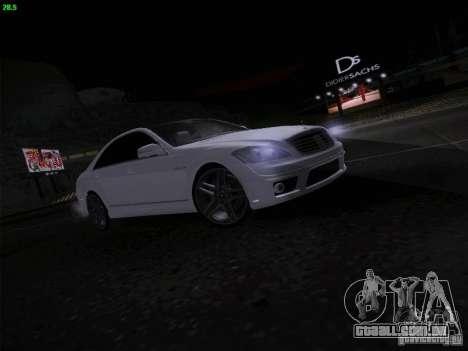 Mercedes-Benz S65 AMG V2.0 para GTA San Andreas vista traseira