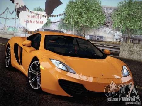 McLaren MP4-12C BETA para GTA San Andreas vista traseira