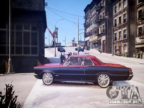 Pontiac GTO 1965 Custom discks pack 1 para GTA 4 esquerda vista