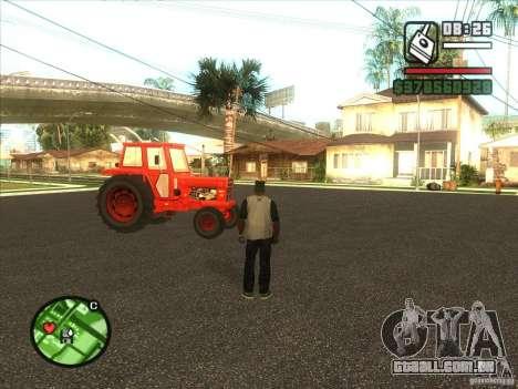 Trator para GTA San Andreas traseira esquerda vista