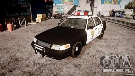 Ford Crown Victoria Raccoon City Police Car para GTA 4