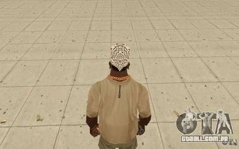 Bandana shamal para GTA San Andreas terceira tela