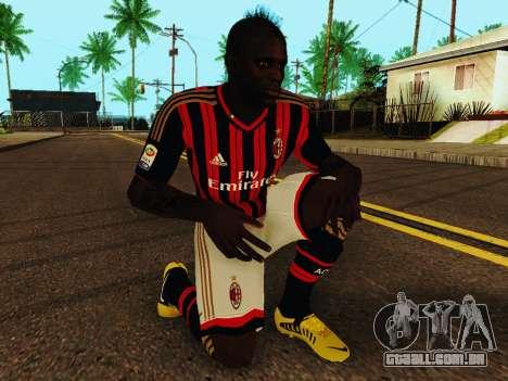 Mario Balotelli v1 para GTA San Andreas quinto tela