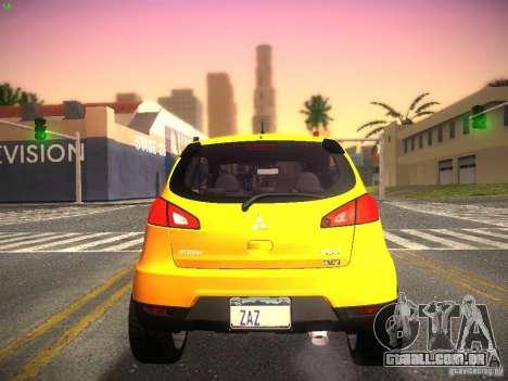 Mitsubishi Colt Rallyart para GTA San Andreas vista direita