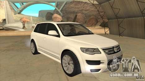 Volkswagen Touareg R50 para GTA San Andreas vista traseira