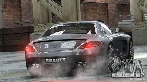 Mercedes-Benz SLS 2011 Brabus AMG Widestar para GTA 4 esquerda vista