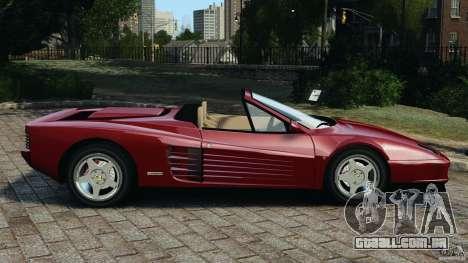 Ferrari Testarossa Spider custom v1.0 para GTA 4 esquerda vista