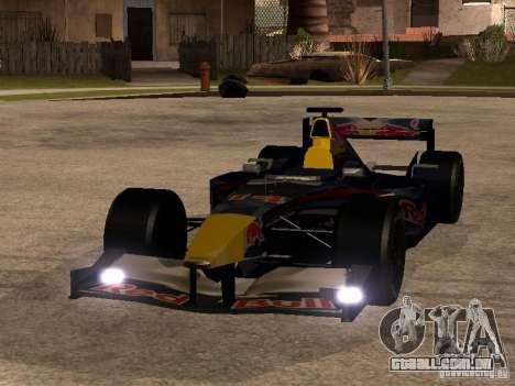 F1 Red Bull Sport para GTA San Andreas vista traseira