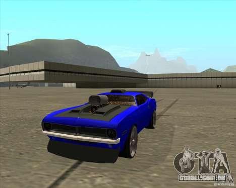 Plymouth Hemi Cuda de NFS Carbon para GTA San Andreas vista direita