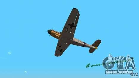 WW2 War Bomber para GTA Vice City vista traseira