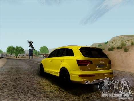 Audi Q7 2010 para GTA San Andreas vista direita
