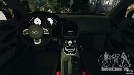 Audi R8 GT 2012 para GTA 4 vista de volta