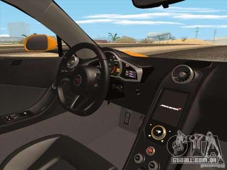 McLaren MP4-12C BETA para GTA San Andreas vista inferior