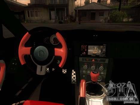 Toyota GT86 2012 para GTA San Andreas traseira esquerda vista