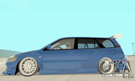 Mitsubishi Lancer Evolution IX Wagon MR Drift para GTA San Andreas traseira esquerda vista