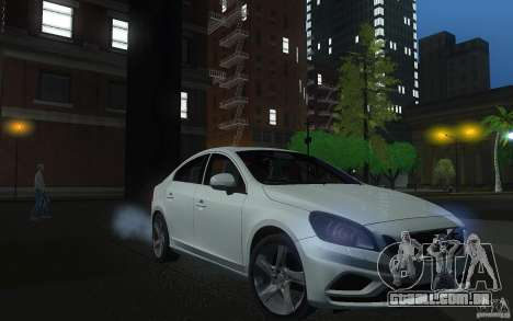 Volvo S60 2011 para GTA San Andreas vista traseira
