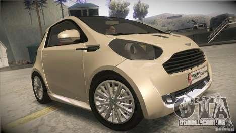 Aston Martin Cygnet 2010 V2.0 para GTA San Andreas vista traseira