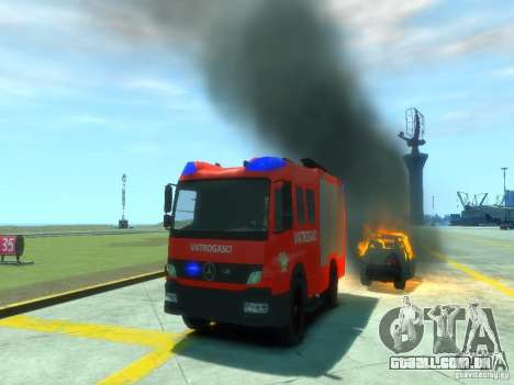 Mercedes-Benz Atego Fire Departament para GTA 4 vista superior