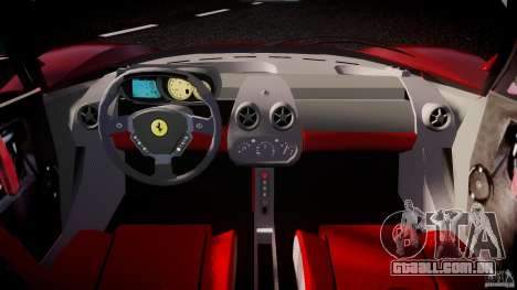Ferrari Enzo para GTA 4 vista de volta