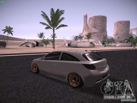 Vauxhall Astra VXR Tuned para GTA San Andreas traseira esquerda vista