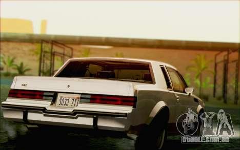 Buick GNX 1987 para o motor de GTA San Andreas