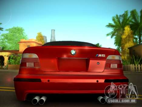 BMW M5 E39 para GTA San Andreas vista interior