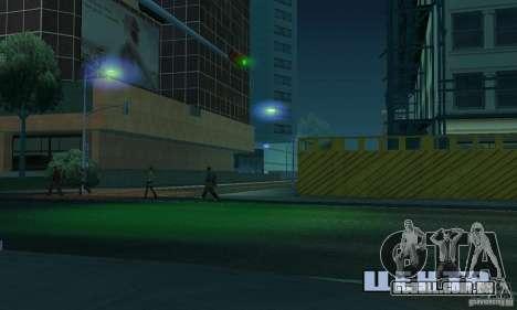 Faróis azuis para GTA San Andreas por diante tela
