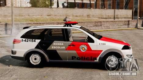 Fiat Palio Weekend Trekking 2013 PMESP ELS para GTA 4 esquerda vista