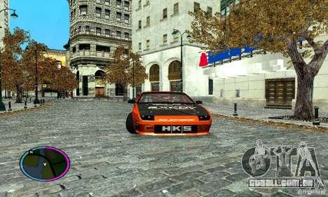 Mazda RX-7 FC for Drag para GTA San Andreas traseira esquerda vista