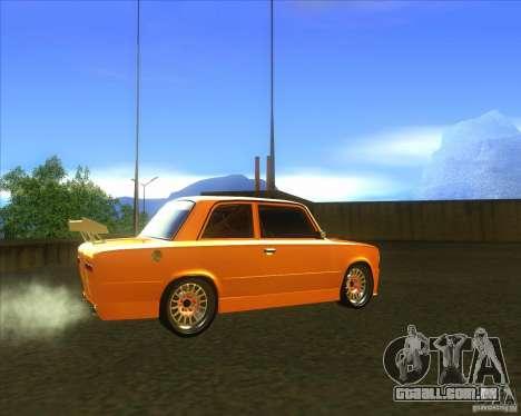 2101 VAZ explosivo carro tuning para GTA San Andreas traseira esquerda vista