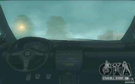 Seat Toledo 1.9 1999 para vista lateral GTA San Andreas