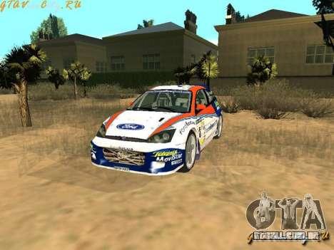 Ford Focus WRC 2002 para GTA San Andreas vista traseira