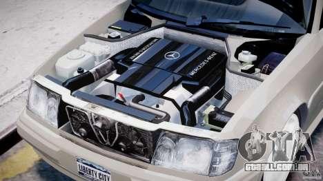 Mercedes-Benz W124 E500 1995 para GTA 4 vista interior