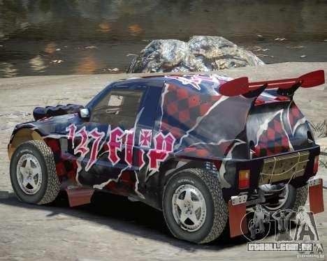 Mitsubishi Pajero Proto Dakar vinil 3 para GTA 4 vista de volta