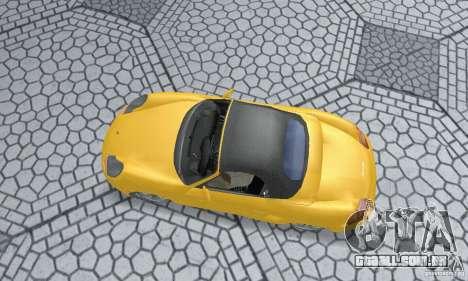 Porsche Boxster para GTA San Andreas traseira esquerda vista