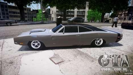 Dodge Charger RT 1969 tun v 1.1 baixo passeio para GTA 4 esquerda vista