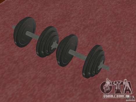 Novos pesos livres no ginásio para GTA San Andreas segunda tela