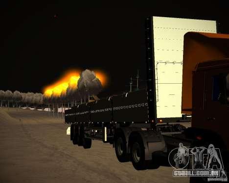 Kogel a bordo para GTA San Andreas vista traseira