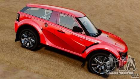 Bowler EXR S 2012 para GTA 4 esquerda vista