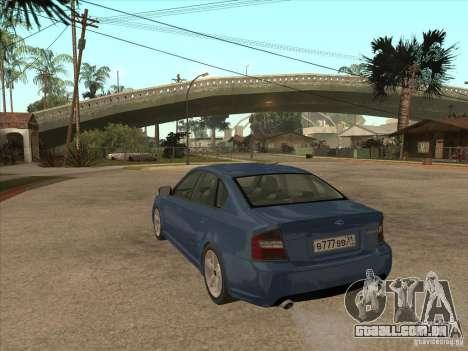 Subaru Legacy 3.0 R para GTA San Andreas traseira esquerda vista