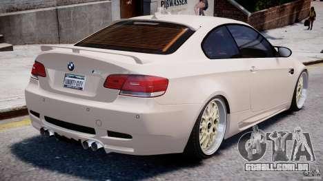 BMW M3 Hamann E92 para GTA 4 vista inferior
