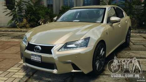 Lexus GS350 2013 v1.0 para GTA 4