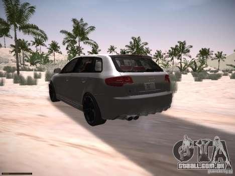 Audi RS3 2011 para GTA San Andreas esquerda vista