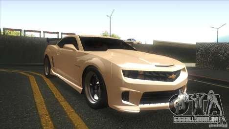 Chevrolet Camaro SS Dr Pepper Edition para GTA San Andreas vista interior
