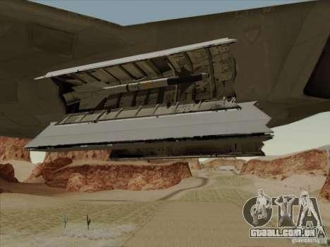 FA22 Raptor para GTA San Andreas vista superior