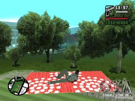 Tapete voador para GTA San Andreas por diante tela